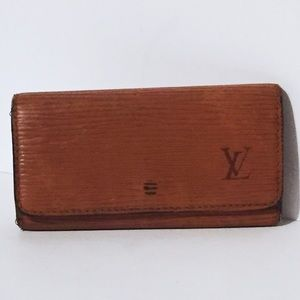 Vintage Louis Vuitton epi leather key wallet